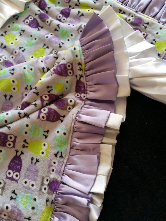Double Satin Ruffle Lavender Purple and by CreationsbyCathy777