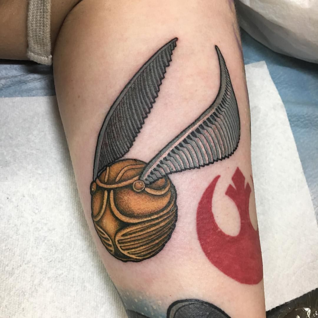 harry potter golden snitch tattoo nerdy tattoo see this