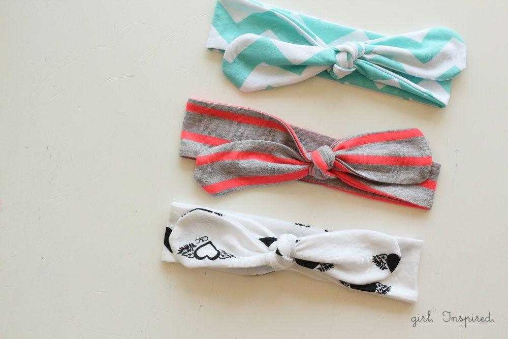 Knot Headbands DIY - EASY tutorial 13'' for girls  11'' for babies