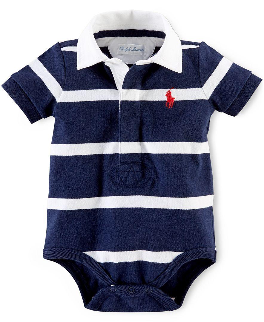 23e517c10 Polo Ralph Lauren Baby Boys  Striped Polo Bodysuit - Kids   Baby - Macy s