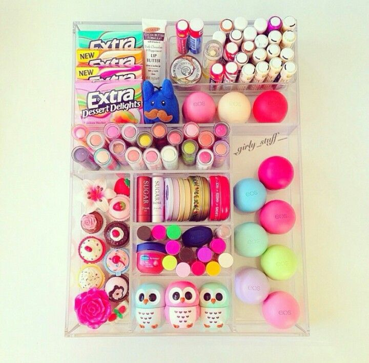 This is cute! :) I would never have that much Chapstick butttt I like the way it's divided so.