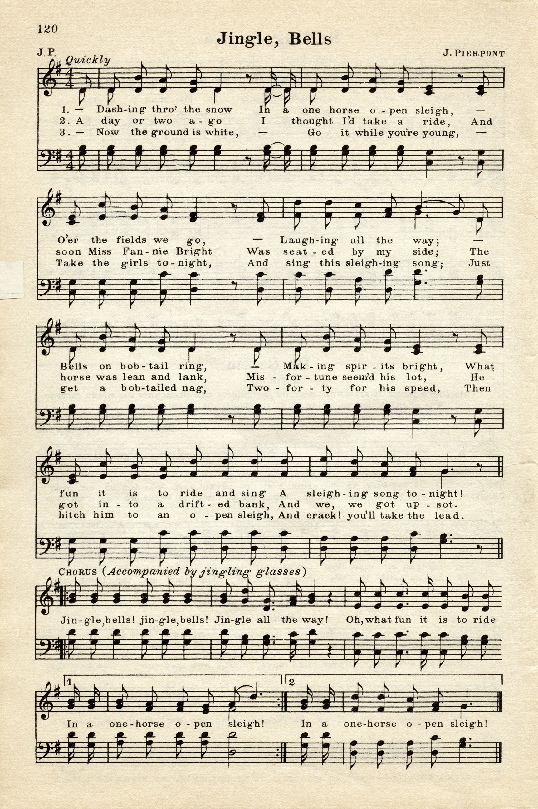 Printable Antique Christmas Sheet Music The Only Hymn That Makes