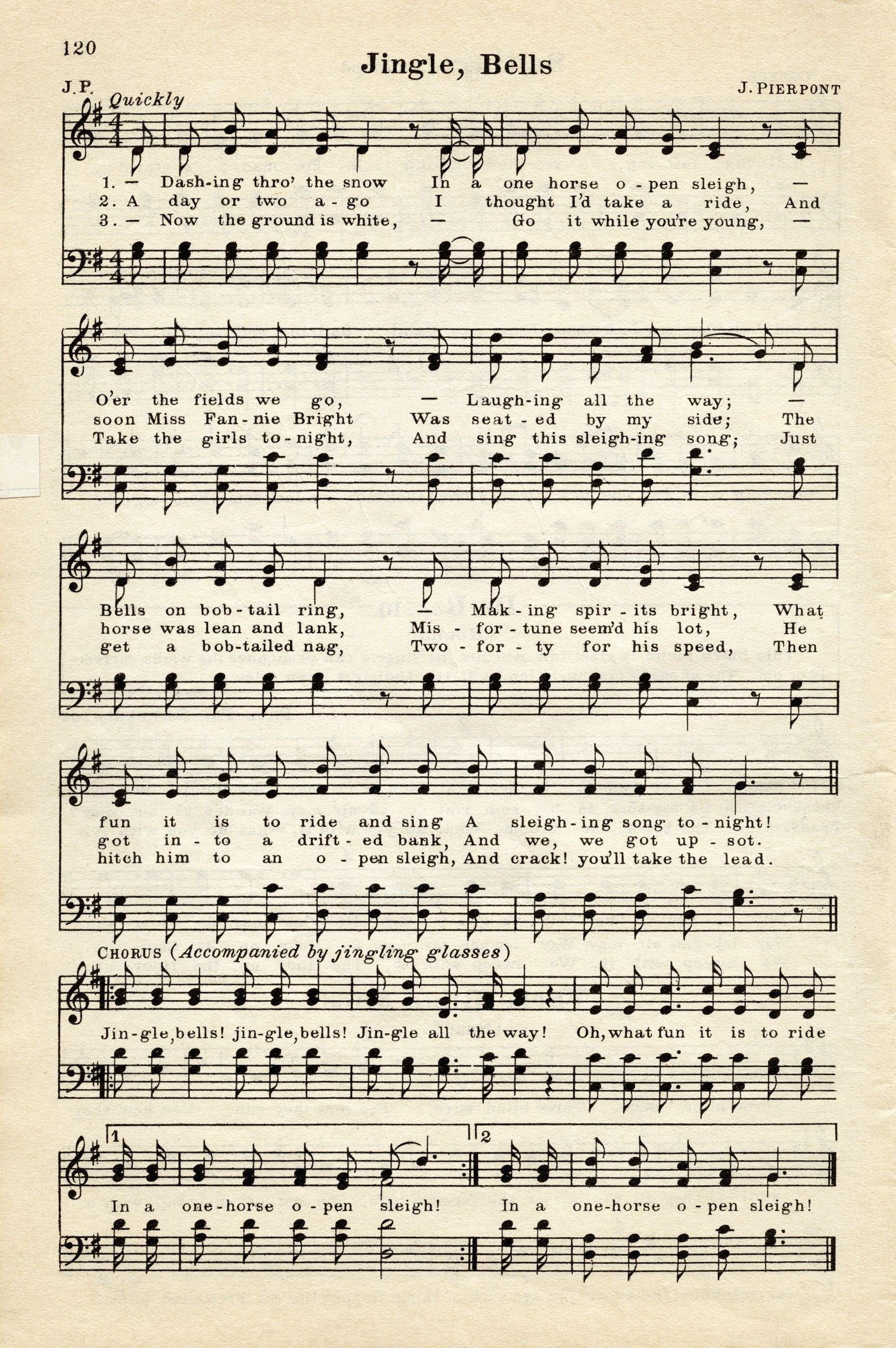 Old Design Shop ~ free digital image: vintage sheet music Jingle ...
