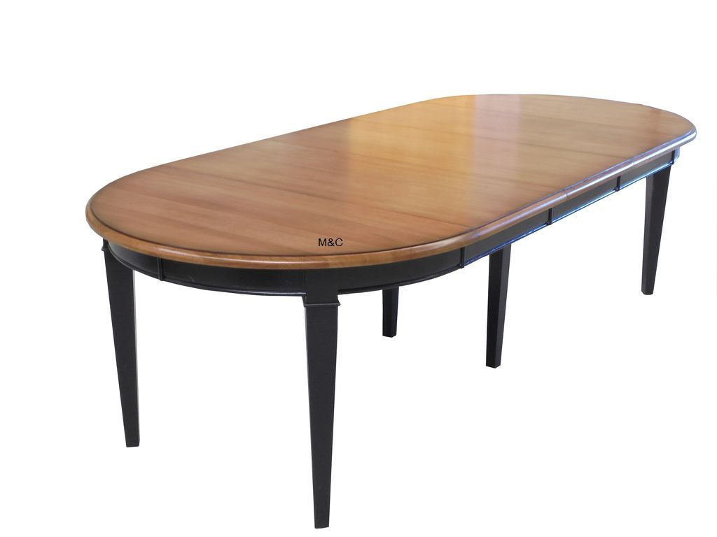 table ronde ch ne massif extensible comportant 3 rallonges de 50 cm chacune table ronde. Black Bedroom Furniture Sets. Home Design Ideas