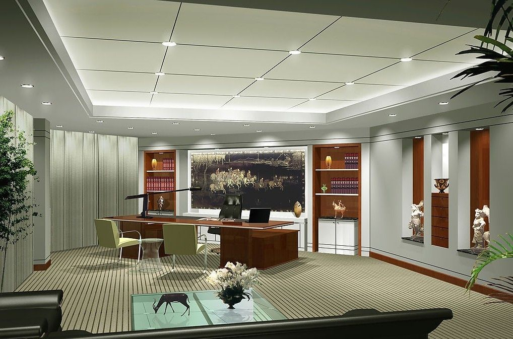 Modern office ceo interior design president office for Best executive office design