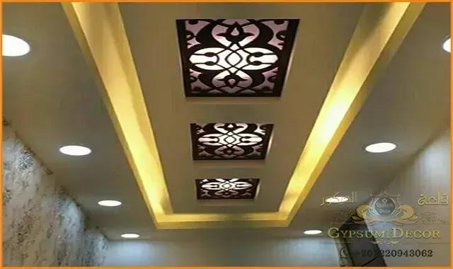 اسقف جبس بورد Candle Sconces Modern Decor Plaster Ceiling