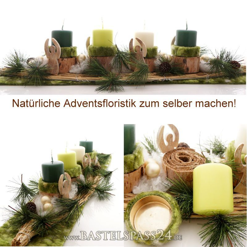 adventskranz selber dekorieren un birke adventsfloristik zum selber machen weihnachten. Black Bedroom Furniture Sets. Home Design Ideas
