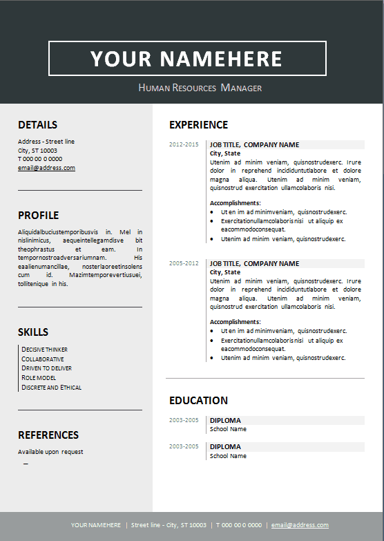 Resume Templates Editable 2 Templates Example Templates Example Resume Format In Word Resume Template Word Microsoft Word Resume Template