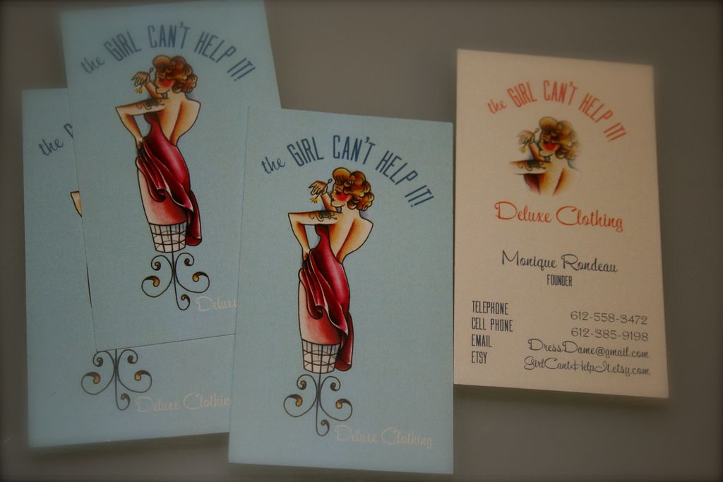 Custom PinUp Clothing Fashion Company | Business card ideas ...