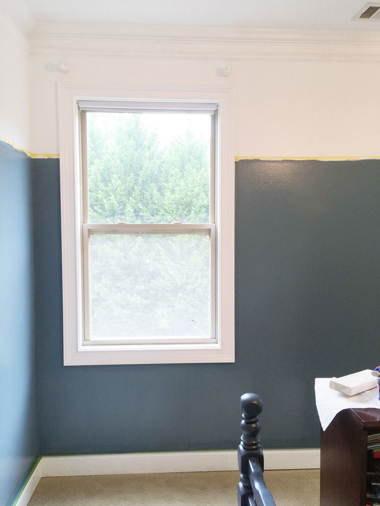 Window decor and more orange beach  two thirds blue  wall colors room and walls