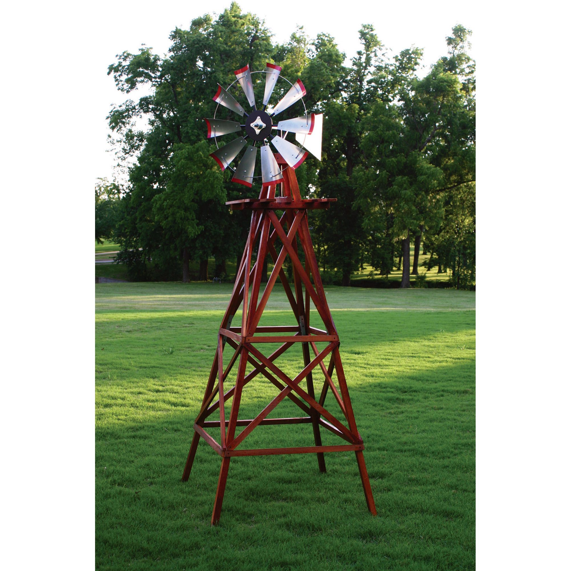 Outdoor Water Solutions Wooden Garden Windmill — 10ft.H, Model ...