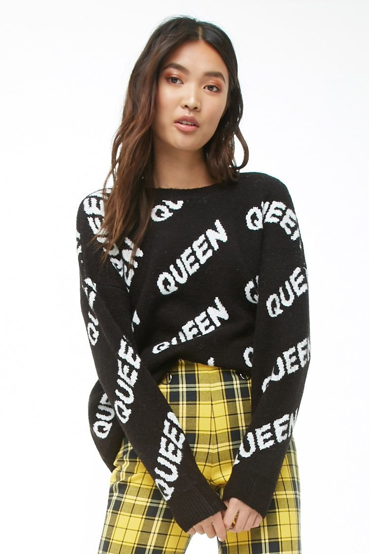 488655691f Queen Graphic Sweater