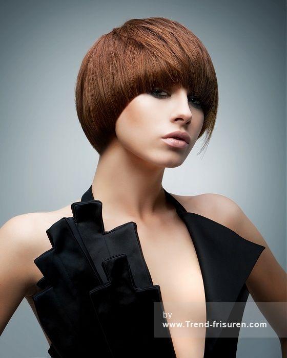 RUSH Kurze Braun weiblich Gerade Farbige Bob Moderne Frauen Haarschnitt Frisuren hairstyles