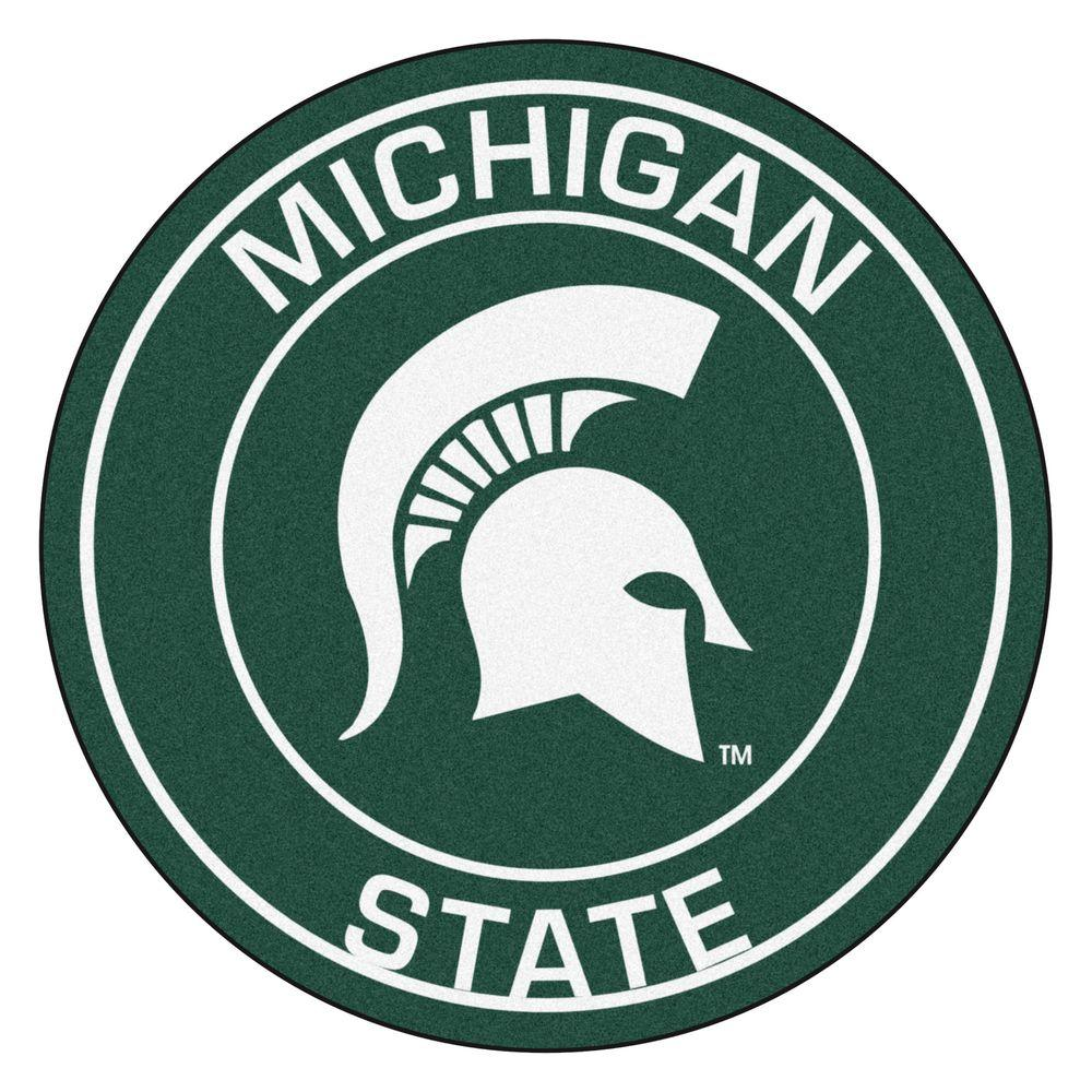 Fanmats Ncaa Michigan State University Green 2 Ft X 2 Ft Round Area Rug Michigan State Spartans Logo Michigan State Logo Michigan State [ 1000 x 1000 Pixel ]