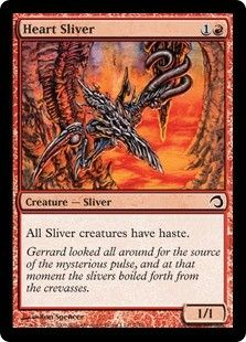4 x Heart Sliver tempest Magic The Gathering mtg
