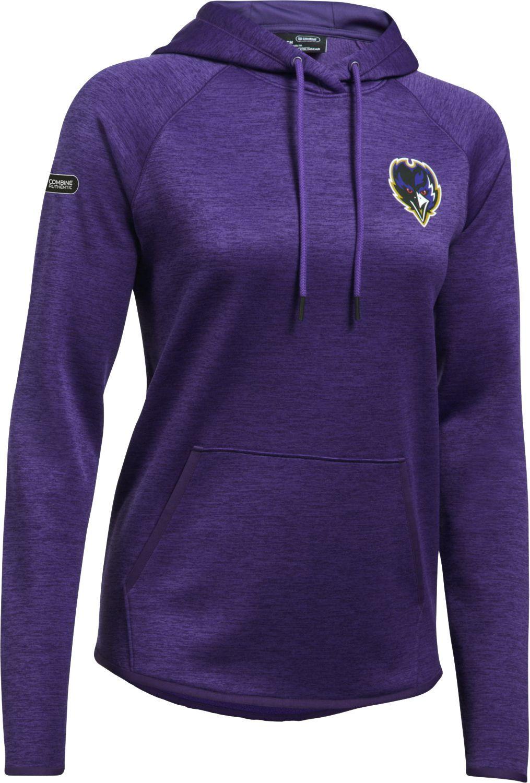68504cc45dd860 Under Armour Combine Authentic Women's Baltimore Tunnel Twist Purple  Hoodie, Size: Medium, Team