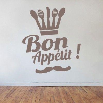 Bon appetit buon appetito stickers murali adesivi for Stickers murali cucina