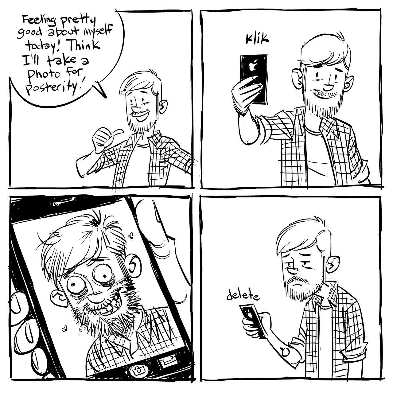 Комиксы с картинками и текстом