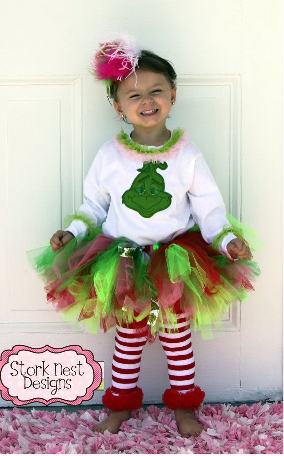 Grinch Inspired Christmas Grinch Costumes Kids Grinch