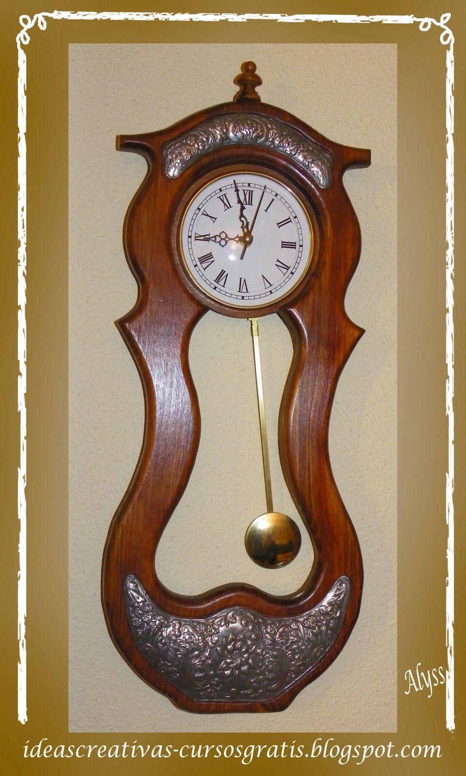 Reloj de pndulo repujado  repujado en metal  Pinterest  Reloj