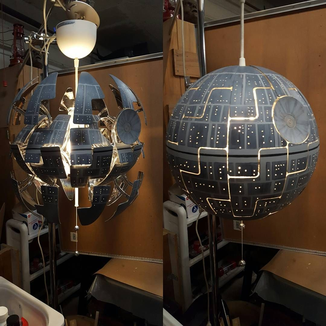 "Joe Malys on Instagram: ""Finished a quick side project. Saw a white pendant light at Ikea and immediately thought death star. I saw someone online had already…"""