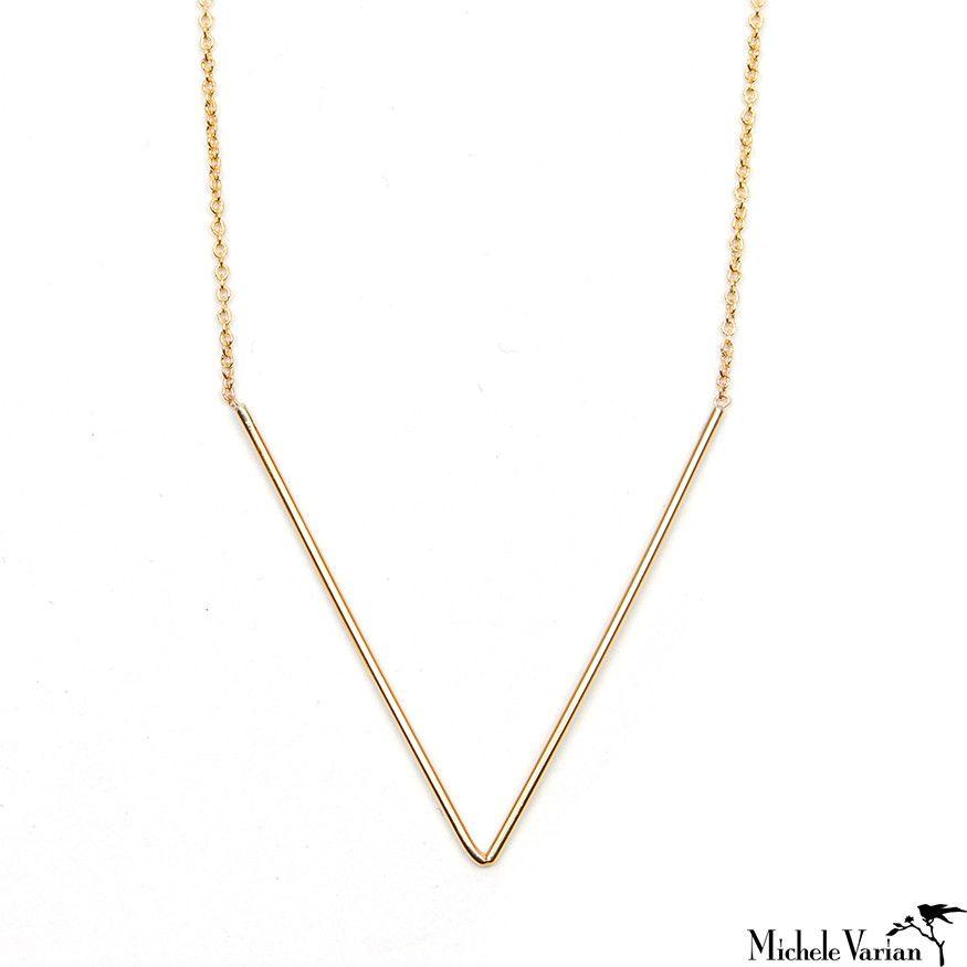 Gold V Necklace
