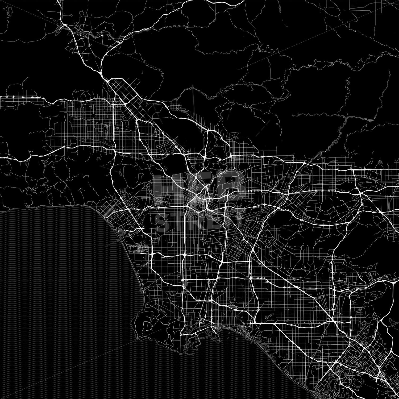 Dark Area Map Of Los Angeles United States Hebstreits Sketches Area Map Los Angeles United States
