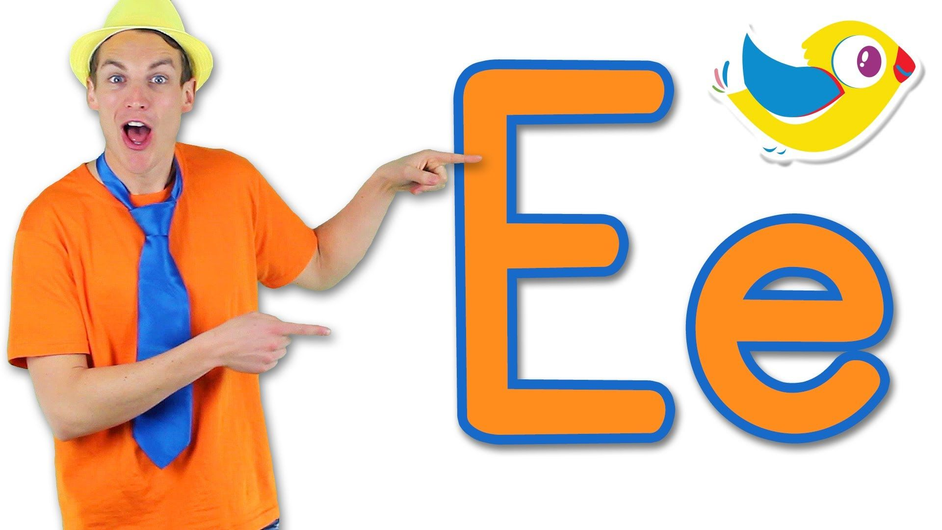 Let's learn the alphabet! What letter comes next? Letter E
