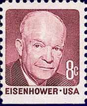 8c Dwight D Eisenhower 1971 When The Domestic First Class Rate Increased From Six To Eight Cents 6c Stamp Was Re Engraved Reflect