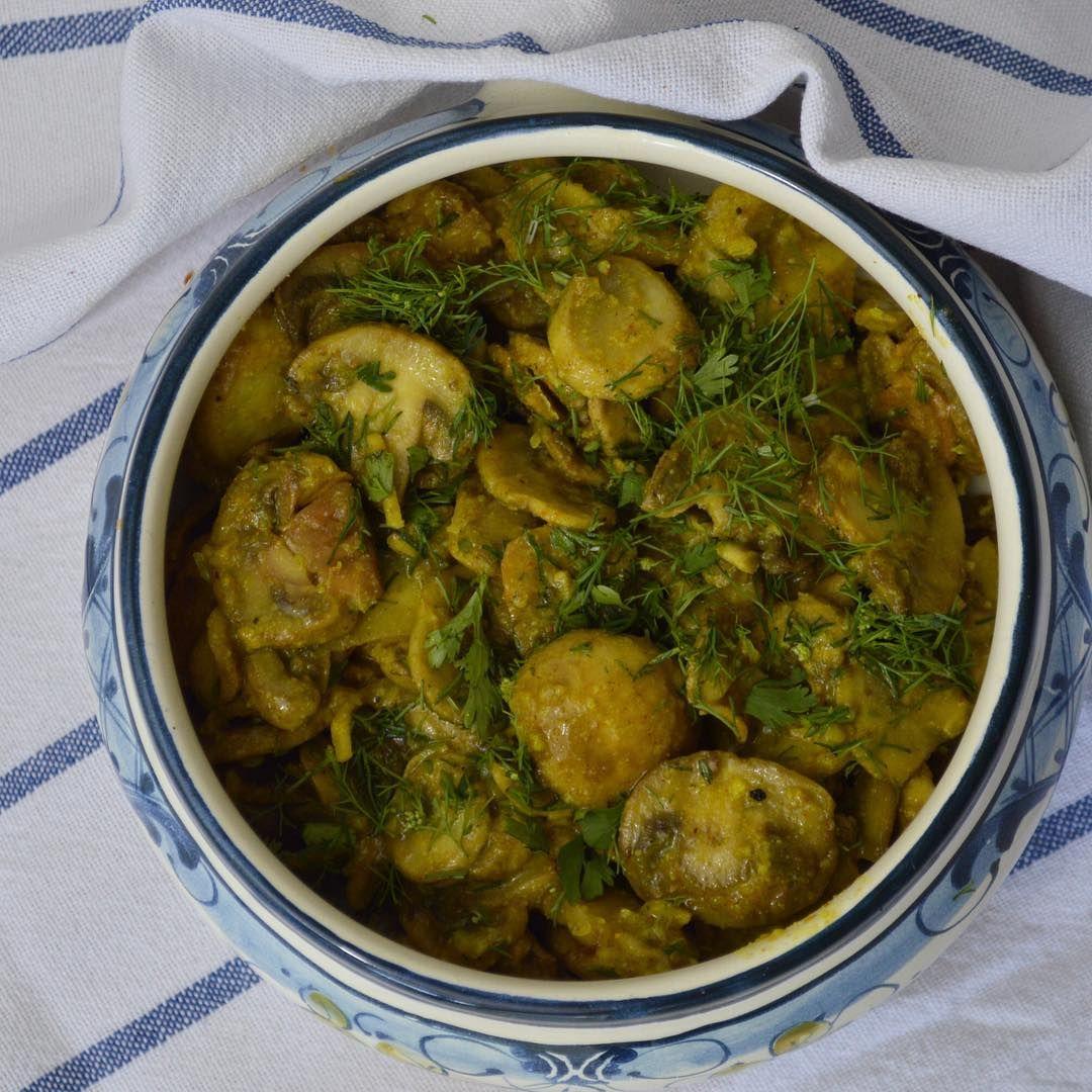 champiñones al curry - gastroglam