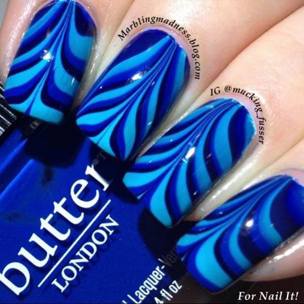 nail designs, nail art, water marbling | NailIt! Magazine #nailart #nails