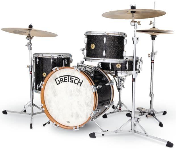 Gretsch Drums Bk J483v Asp Broadkaster Vintage 3 Piece Modern Bop Shell Pack In Anniversary Sparkle Finish The Full Compass Gear Locker Reverb Gretsch Drums Gretsch Drums