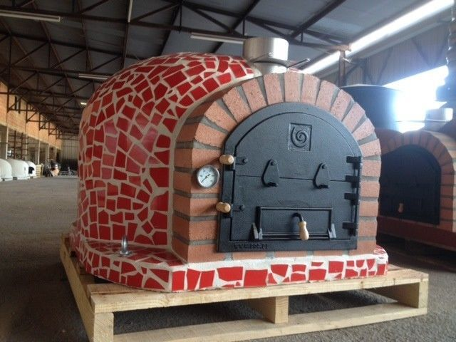 Outdoor Pizza Oven W/ Mosaic Tiles U0026 Cast Iron Door, Made In Portugal, 3  Colors