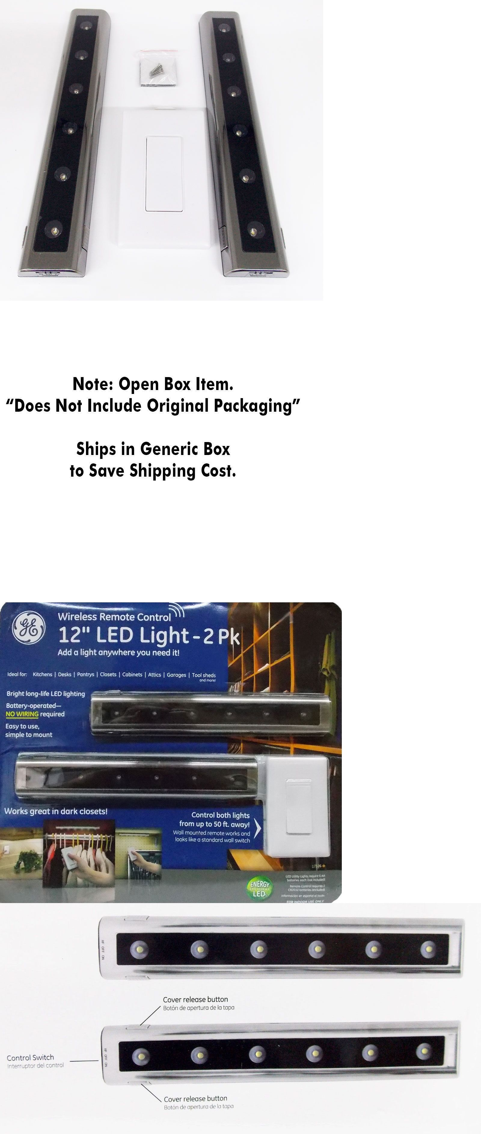 Other Lighting And Ceiling Fans 3201 Ge Wireless 2 Pack 12 Led Light Bars Battery Ed Wall Mount Remote Control It Now Only 39 96 On Ebay