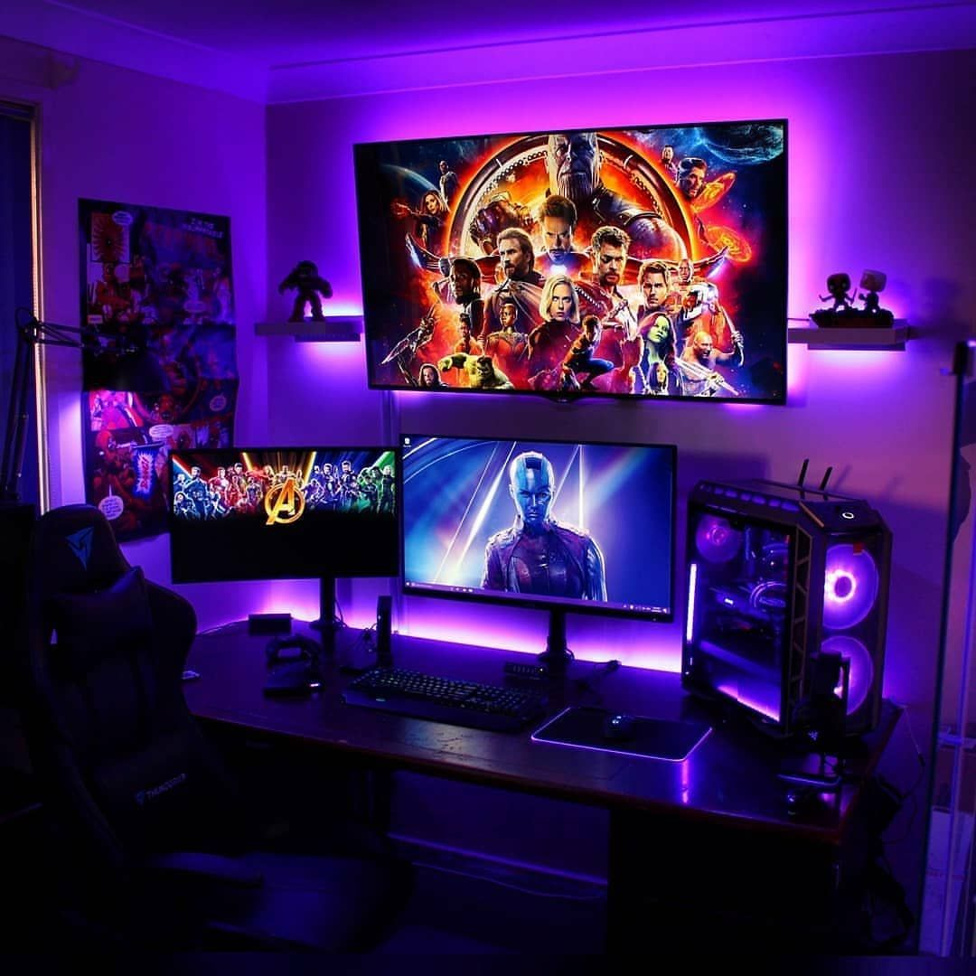 Pc Game Room Ideas: Https://ift.tt/2BYXFBN Setup Featuring Avengers