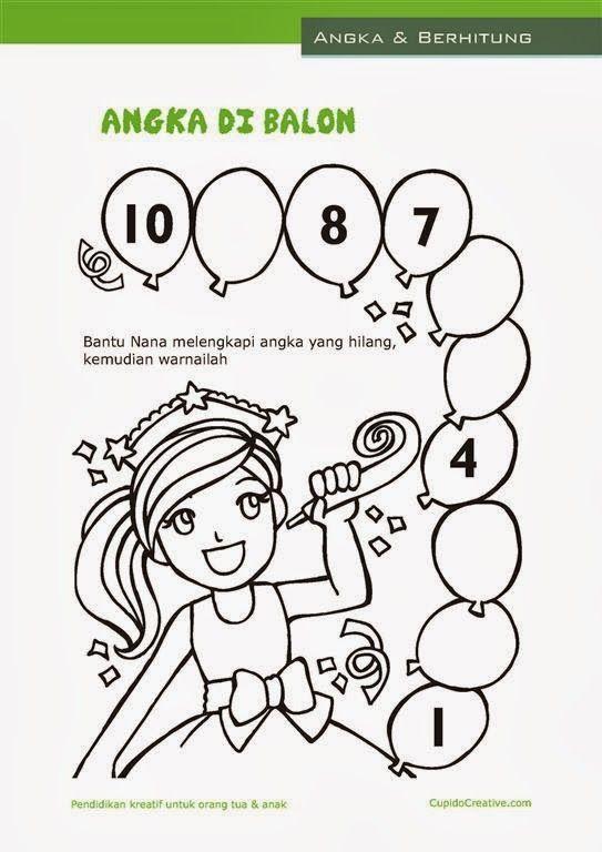 Belajar Sambil Bermain Untuk Anak Tkbalita Menghitung Angka 1 10
