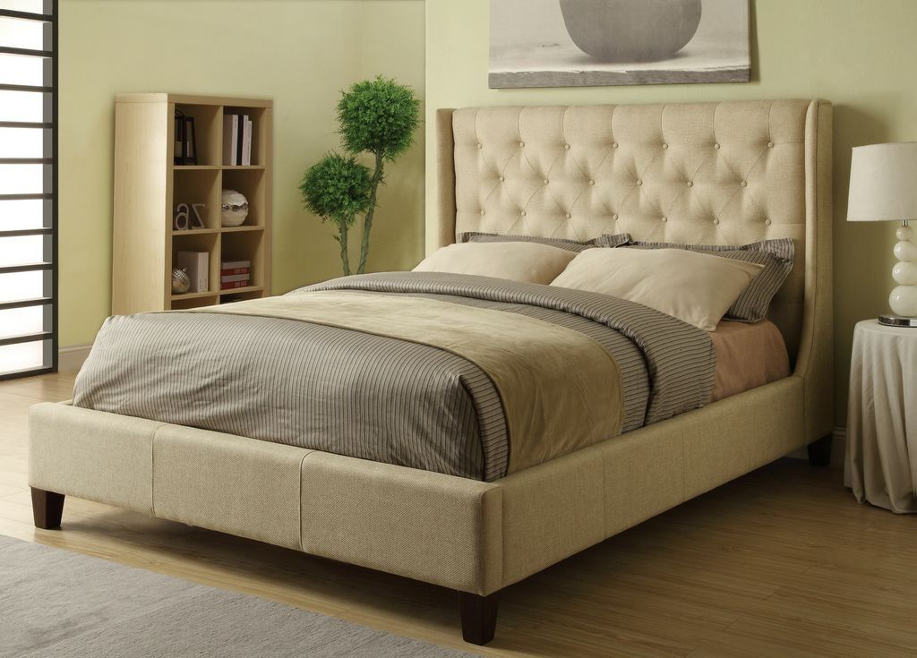 Upholstered Beds Queen Tan Upholstered Bed With Button Tufting By Coaster    Underground Furniture   Upholstered Bed San Diego, Pacific Beach, Mission  Beach, ...