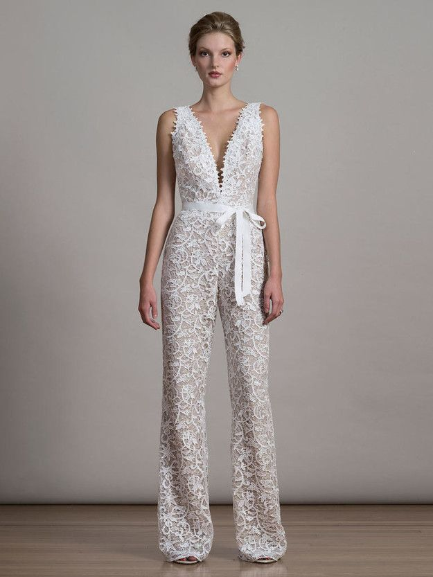 This Utterly Fab Liancarlo Jumpsuit 27 Ridiculously Pretty Wedding Dresses To Look At While The World Burns