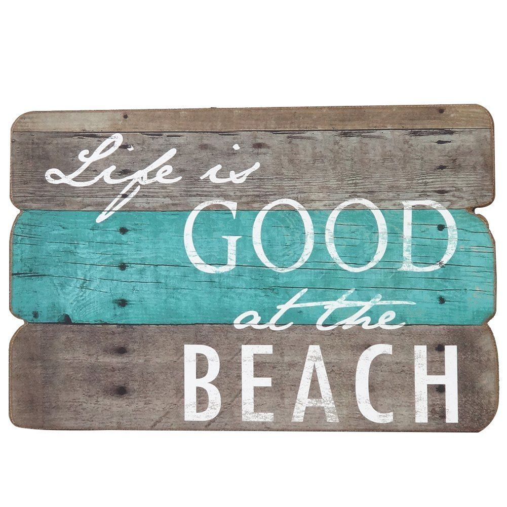 Life is good at the beach wooden wall decorative sign 787 x 063 life is good at the beach wooden wall decorative sign 787 x 063 x 1187 inches amipublicfo Gallery