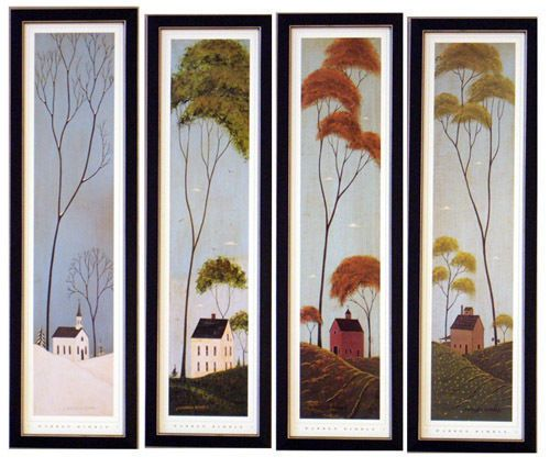 four seasons warren kimble s art print framed picture | collections ...