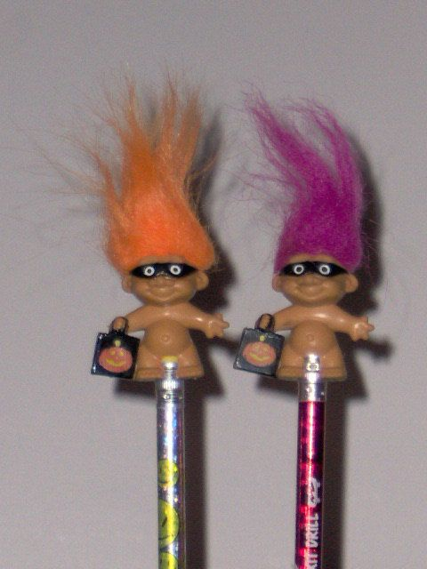 2 vintage halloween russ troll pencil toppers by lolidolldiy 2 vintage halloween russ troll pencil toppers by lolidolldiy 500 junglespirit Image collections