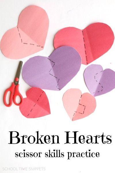 valentine's day scissor skills practice -- love this simple fine, Ideas
