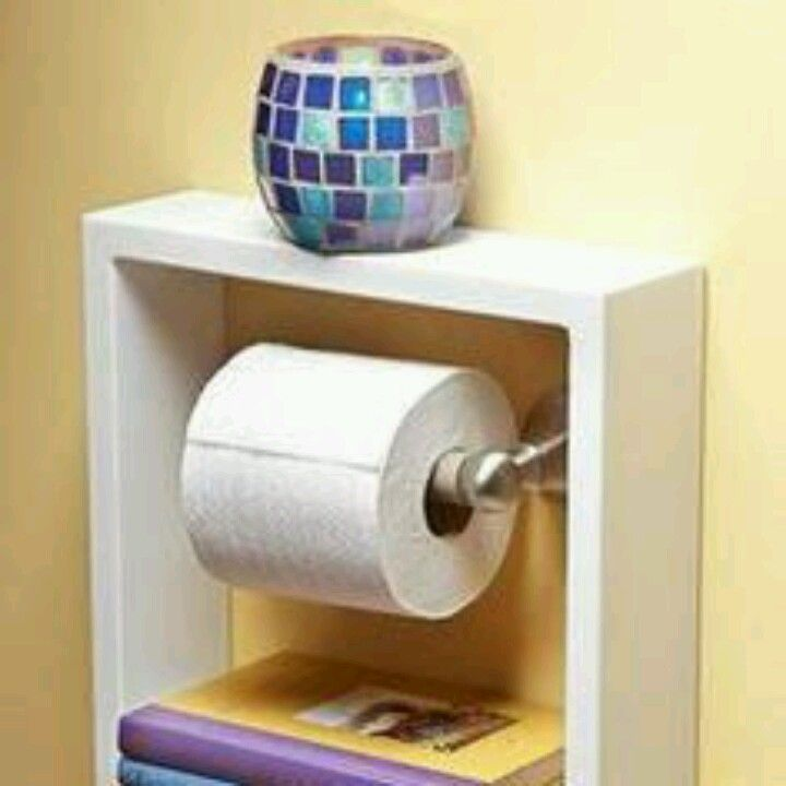 Shadow box from craft store instant bathroom shelf