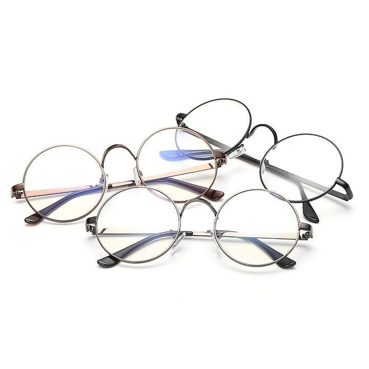 61d82780308ca Hindfield Unisex Round Glasses Metal Frame for Myopic or Reading Spect –  novahe