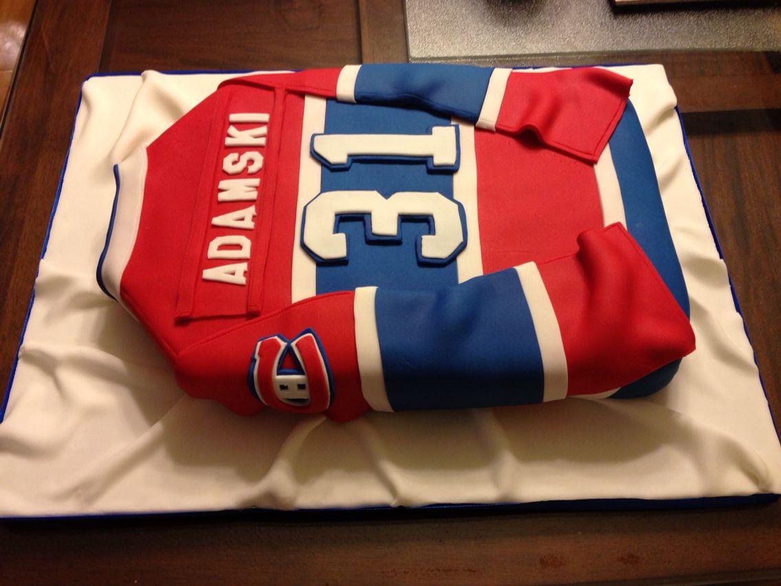 Montreal Canadiens Jersey Cake Hockey Birthday Cake Hockey