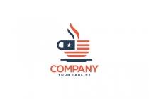 American Cafe Logo In 2020 Coffee Logo Cafe Logo Coffee Shop Logo