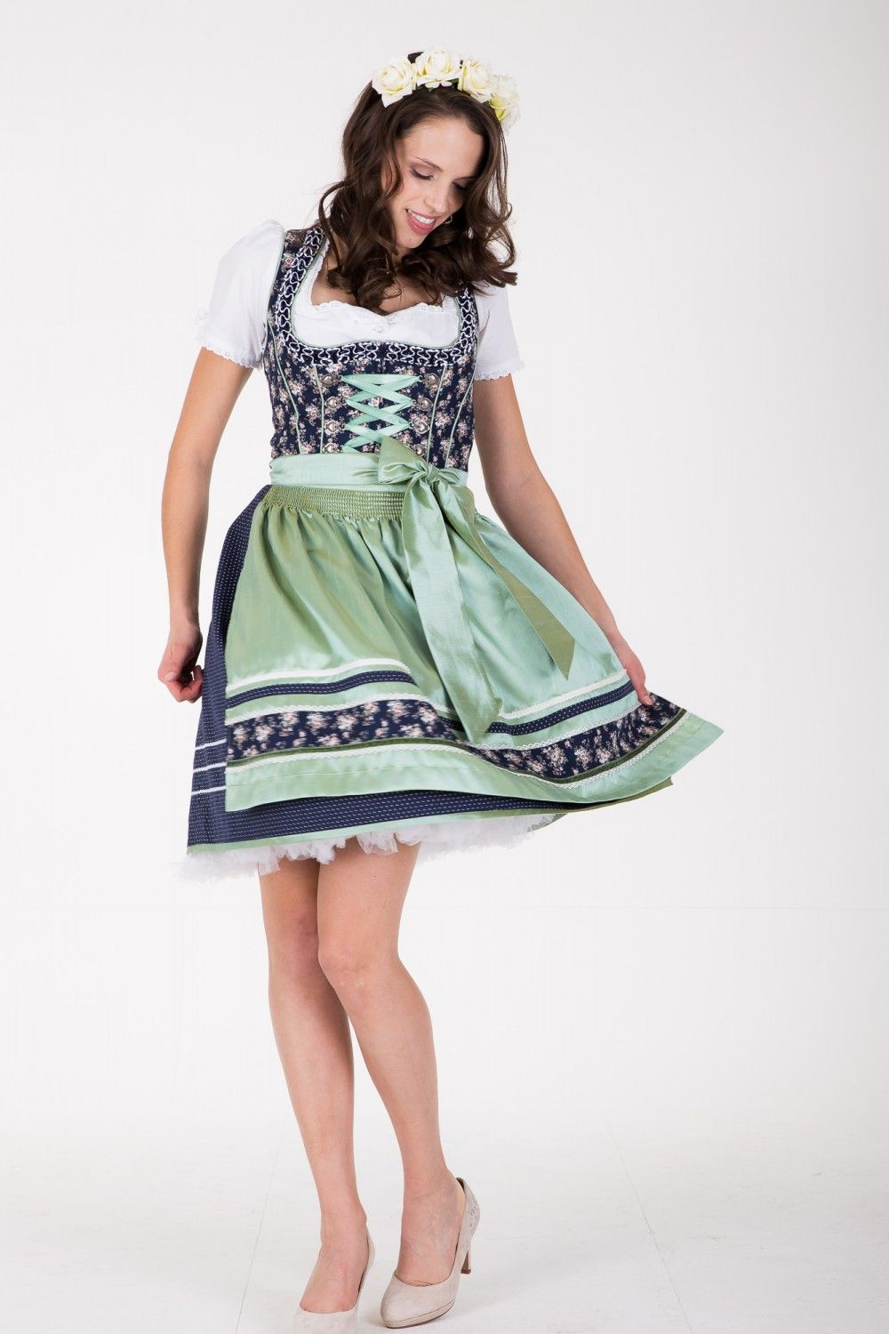 Dirndl Flower Parade (50cm) Dirndl Clothes Women