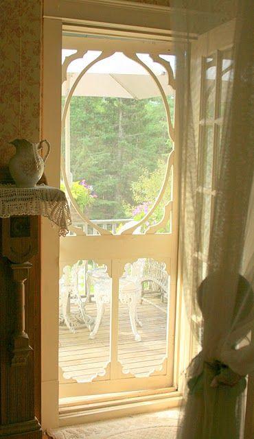 Our Balcony With Images Vintage Screen Doors Screen Door