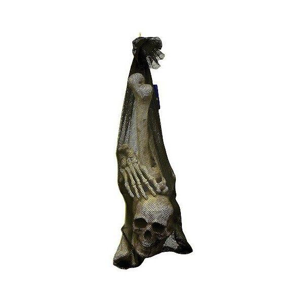 Halloween Bag Of Bones, Ivory (40 AUD) ❤ liked on Polyvore - decorate halloween bags