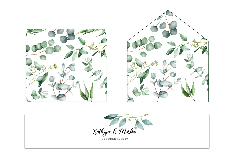 Printable Wedding Envelope Template Rose Dots